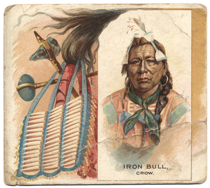 1888 Allen & Ginter American Indians N36 Iron Bull (Crow) back