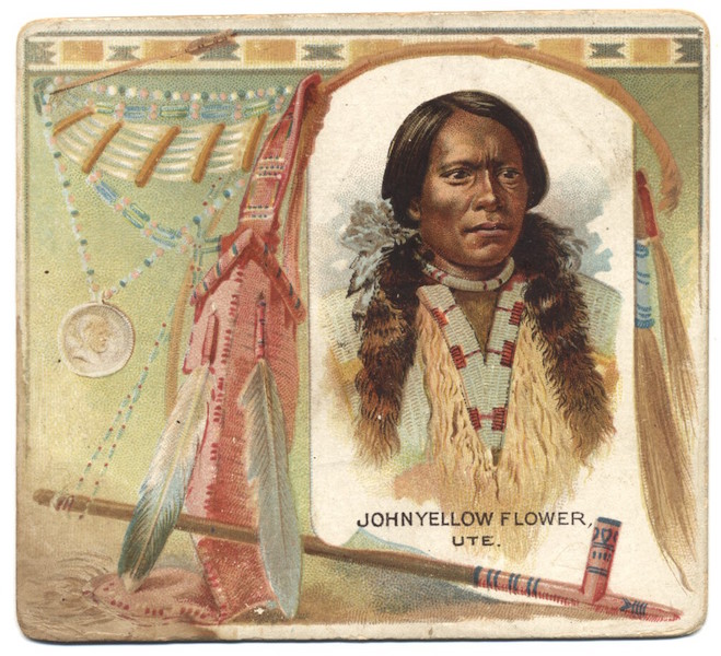 1888 Allen & Ginter American Indians N36 John Yellow Flower (Ute)
