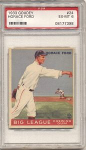 1933 Goudey #24 Horace Ford