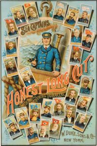 1887 W. Duke, Sons & Co. Honest Long Cut cigarettes poster of the N127 Sea Captions card set