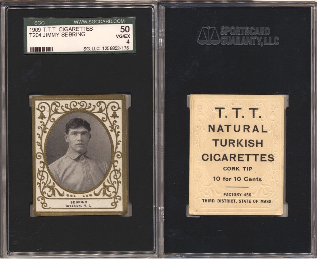 1909 T204 Sebring (SGC 50) with T.T.T. Turkish Cigarettes back