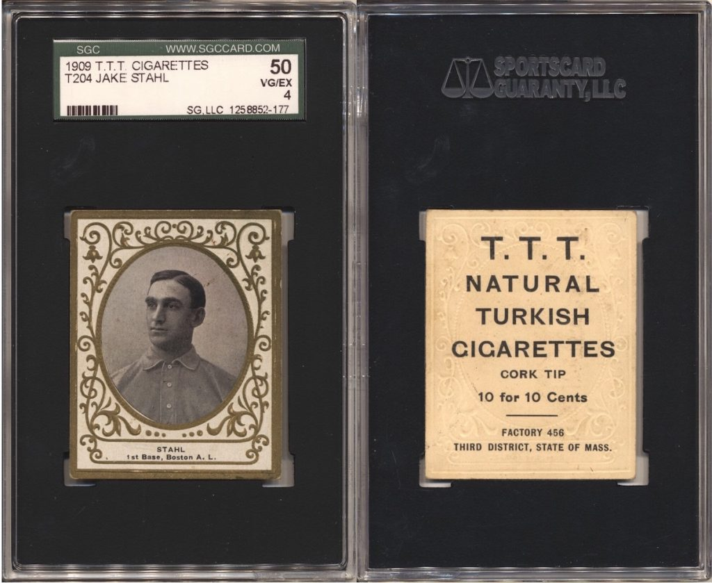 1909 T204 Stahl (SGC 50) with T.T.T. Turkish Cigarettes back