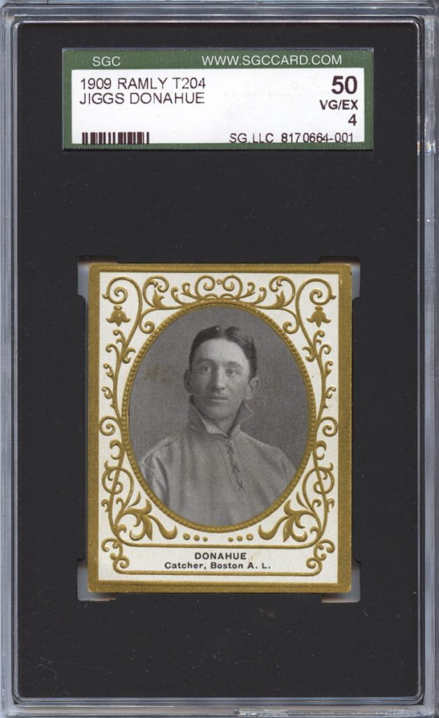 1909 T204 Ramly Pat Donahue (not his brother Jiggs)