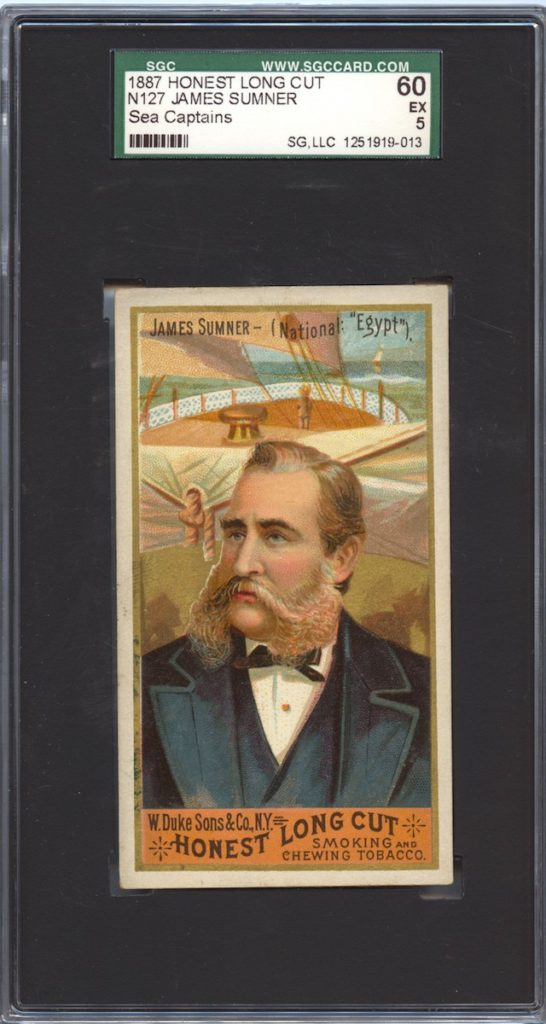 1887 W.Duke & Co. Honest Long Cut N127 Sea Captains James Sumner