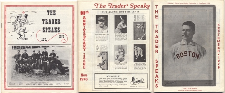 Issues of The Trader Speaks from Aug. 1975, Nov. 1978, and Sept. 1979.