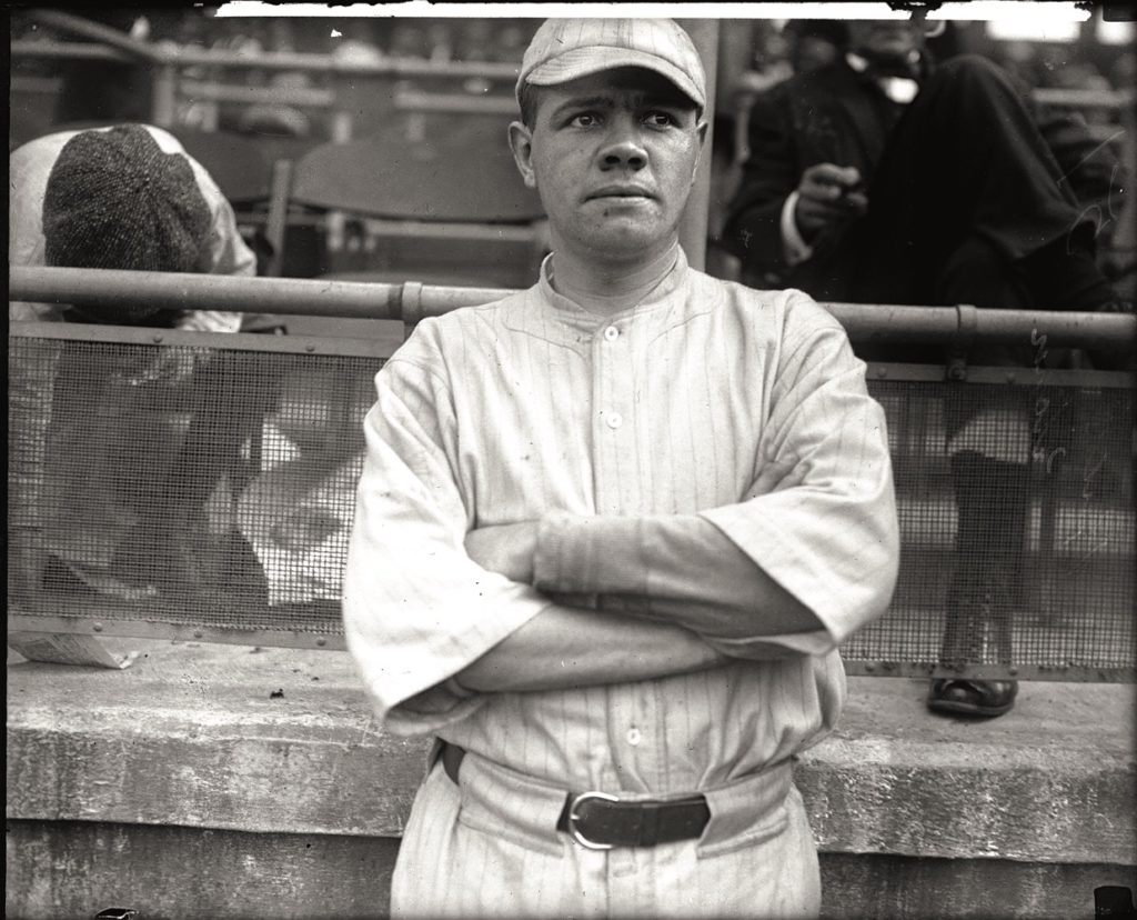 Boston Plate Glass negative Babe Ruth