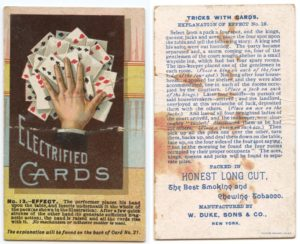 "1887 N138 W. Duke & Sons Co. Tricks With Cards ""Electrified Cards"""
