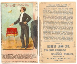 "1887 N138 W. Duke & Sons Co. Tricks With Cards ""Metempsychosis"""