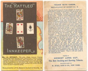 "1887 N138 W. Duke & Sons Co. Tricks With Cards ""The Rattled Innkeeper"""