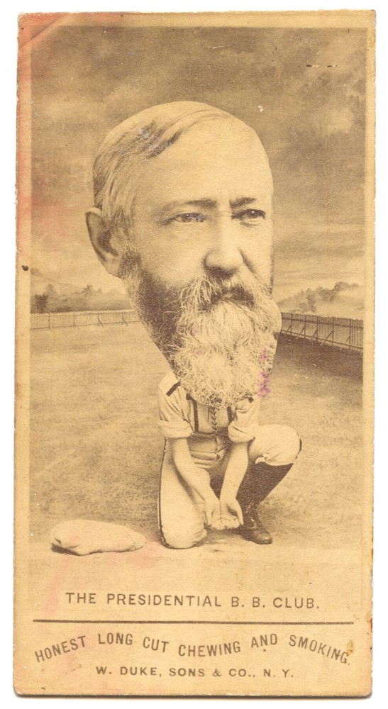 1888 W. Duke Sons & Co. Honest Long Cut Presidential B.B. Club Benjamin Harrison