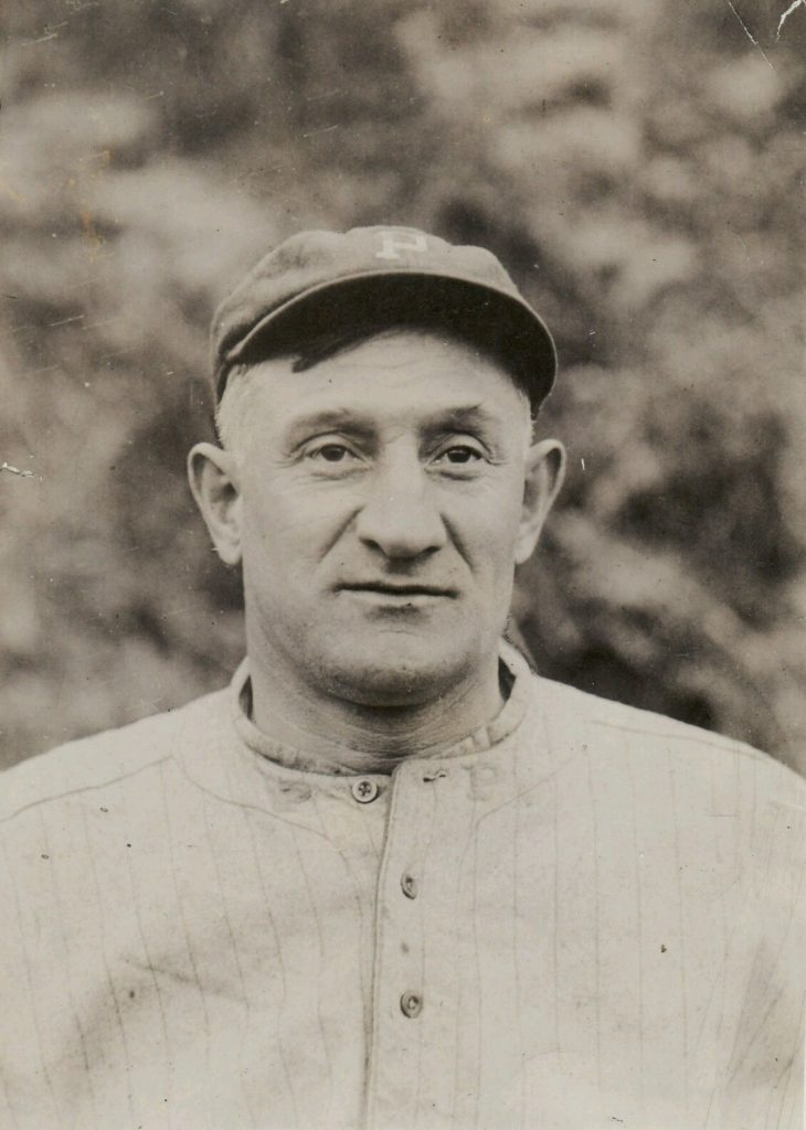Photo of Honus Wagner used for his D381 Fleischmann card