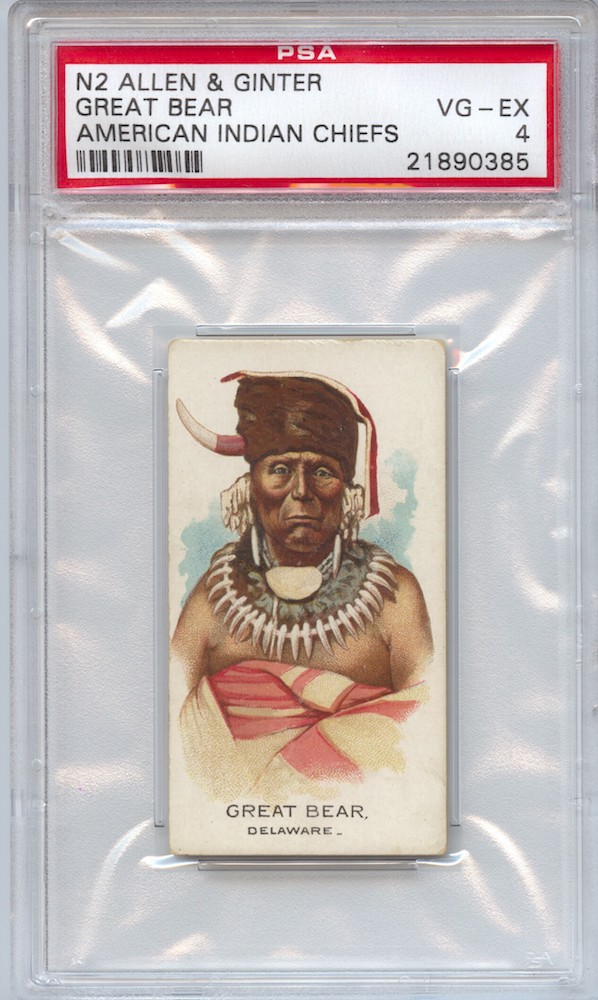 1888 Allen & Ginter N2 American Indian Chiefs Great Bear