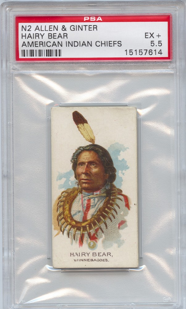 1888 Allen & Ginter N2 American Indian Chiefs Hairy Bear