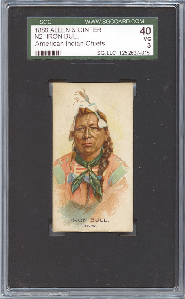 1888 Allen & Ginter N2 American Indian Chiefs Iron Bull