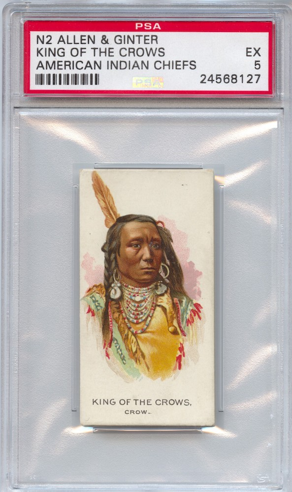 1888 Allen & Ginter N2 American Indian Chiefs King of the Crows