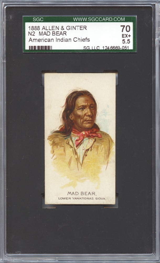 1888 Allen & Ginter N2 American Indian Chiefs Mad Bear