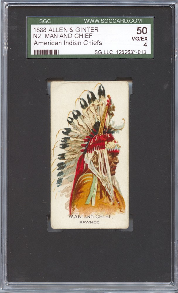 1888 Allen & Ginter N2 American Indian Chiefs Man and Chief