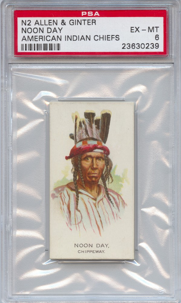 1888 Allen & Ginter N2 American Indian Chiefs Noon Day