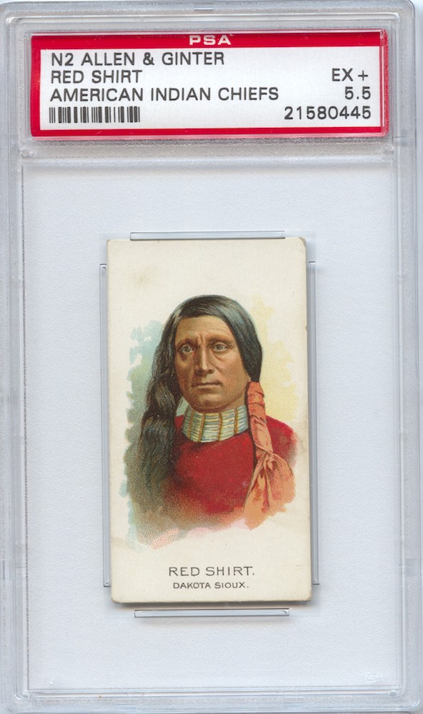 1888 Allen & Ginter N2 American Indian Chiefs Red Shirt
