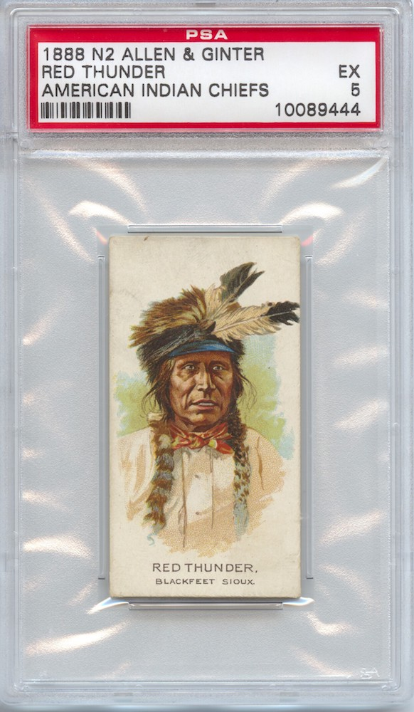 1888 Allen & Ginter N2 American Indian Chiefs Red Thunder