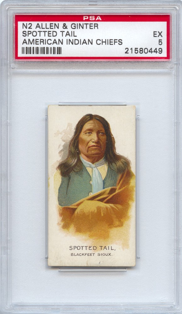 1888 Allen & Ginter N2 American Indian Chiefs Spotted Tail