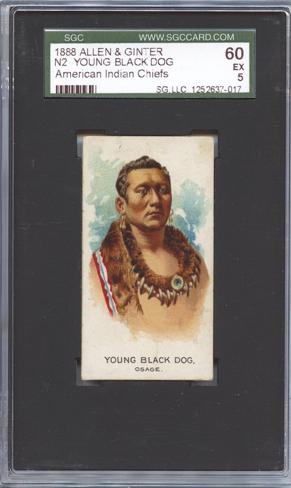 1888 Allen & Ginter N2 American Indian Chiefs Young Black Dog