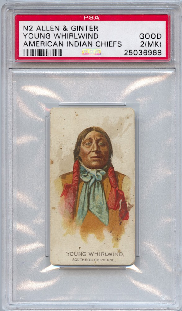 1888 Allen & Ginter N2 American Indian Chiefs Young Whirlwind