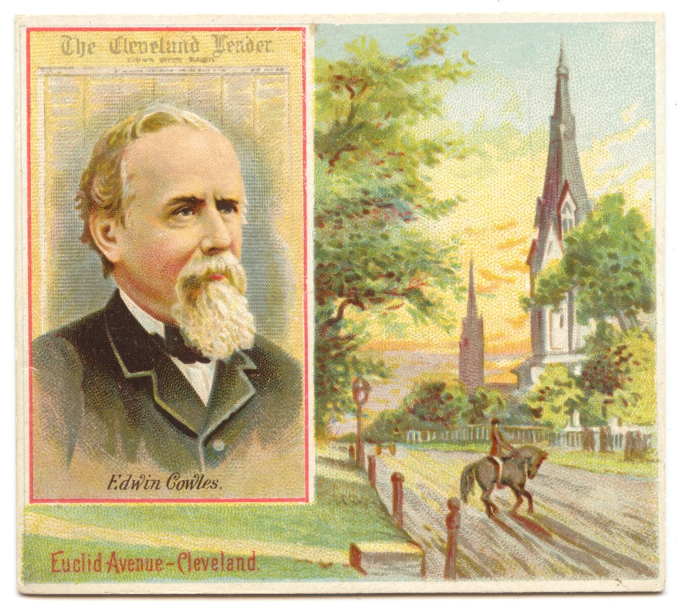 N35 Allen & Ginter American Editors #15 Edwin Cowles, Cleveland Leader