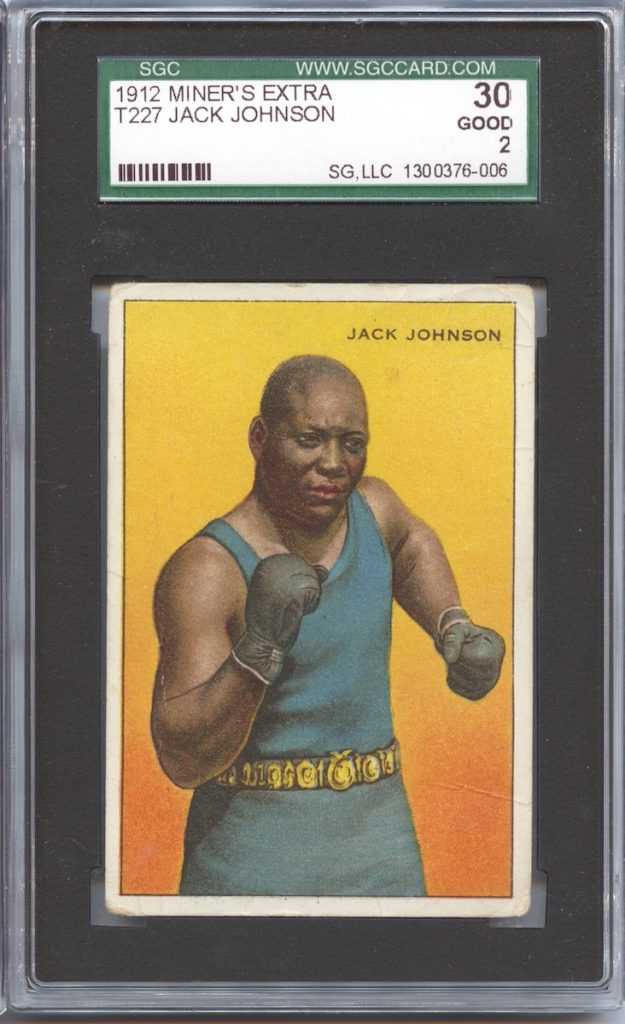 "1912 ""Series of Champions"" T227 Miners Extra Jack Johnson"