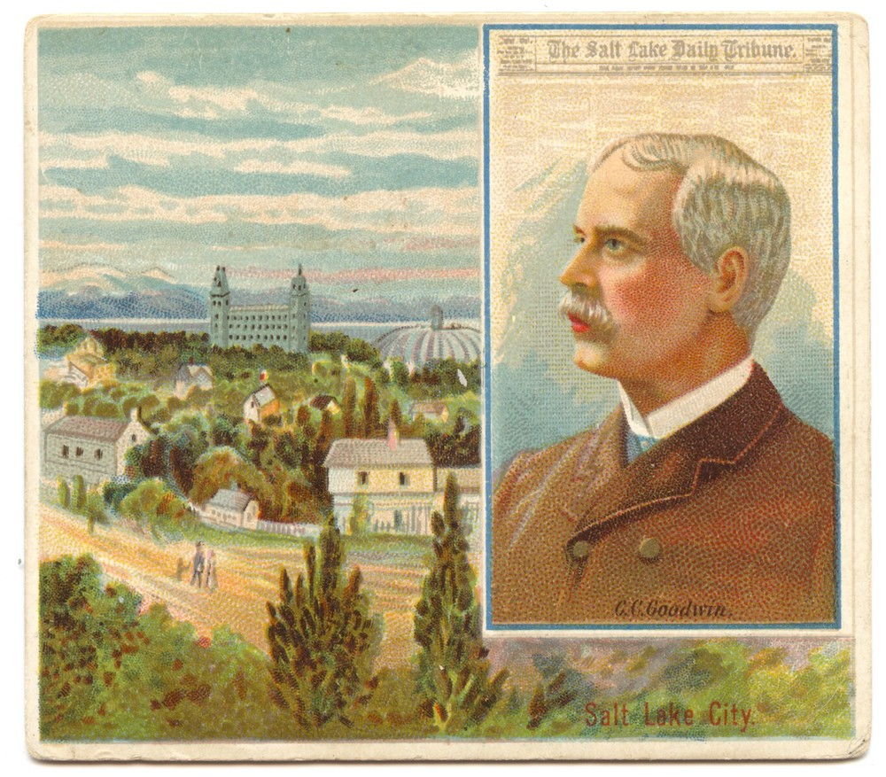N35 Allen & Ginter American Editors #21 C.C. Goodwin, Salt Lake City Daily Tribune