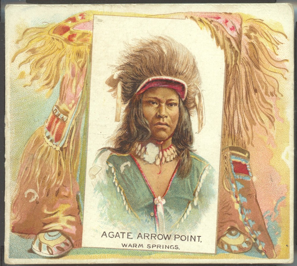 1888 N36 Allen & Ginter American Indian Agate Arrow Point (Warm Springs)