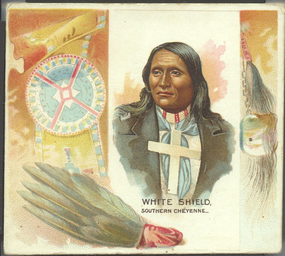 1888 N36 Allen & Ginter American Indian White Shield (Southern Cheyenne)