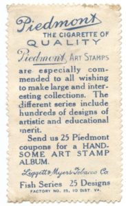 T330-4 Piedmont Art Stamps Fish Series back