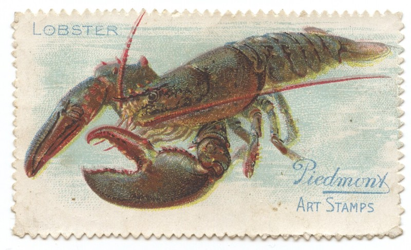 T330-4 Piedmont Art Stamps Fish Series Lobster
