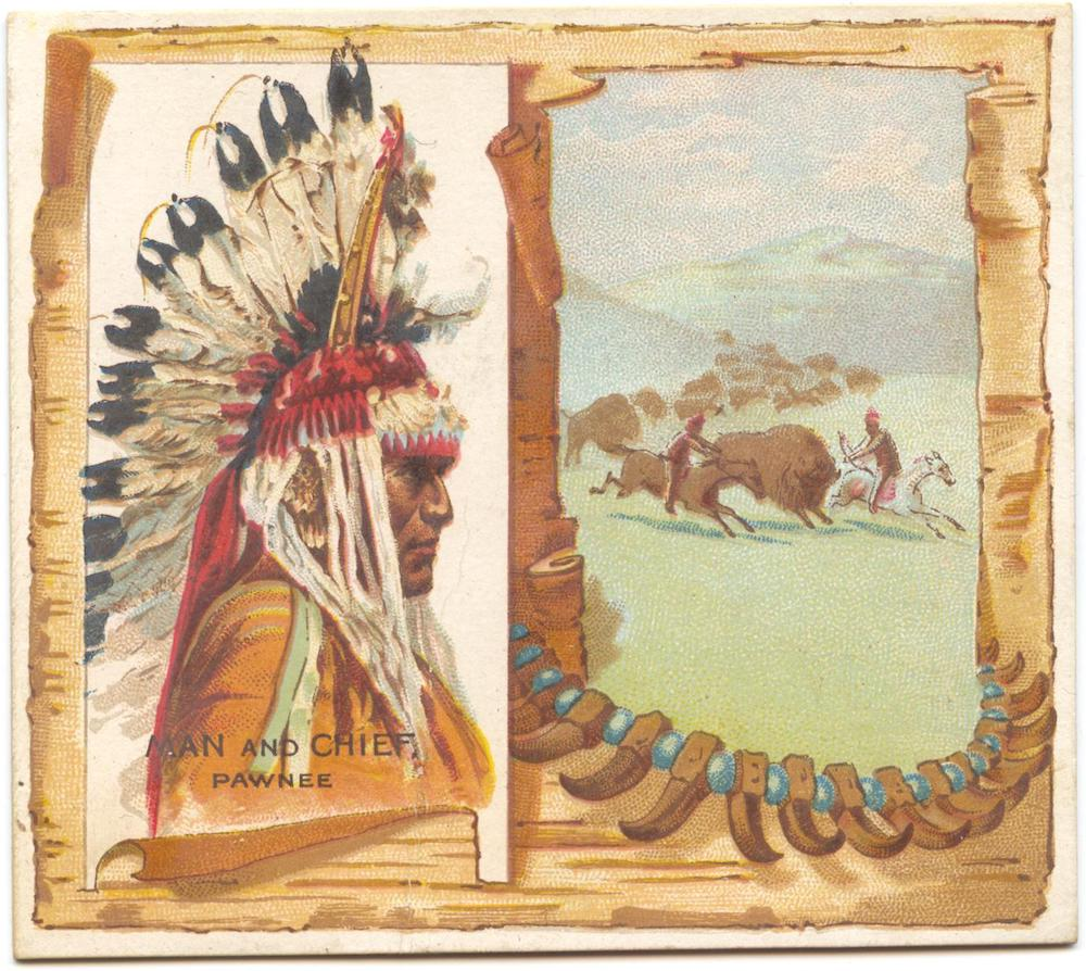 1888 N36 Allen & Ginter American Indian Man and Chief (Pawnee)