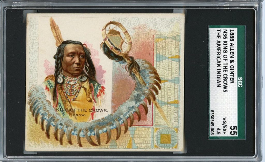 "1888 N36 Allen & Ginter ""American Indians"" King of the Crows"