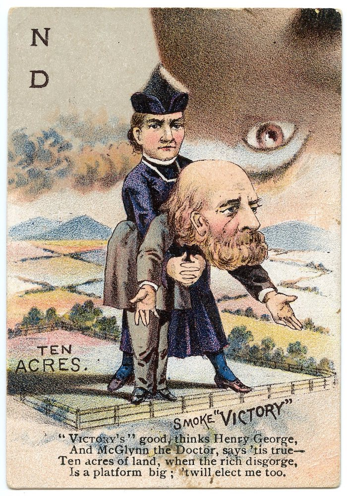 "1888 Buchner Victory Tobacco Presidential Puzzle ""ND"" card with Henry George, Progressive economist and journalist"