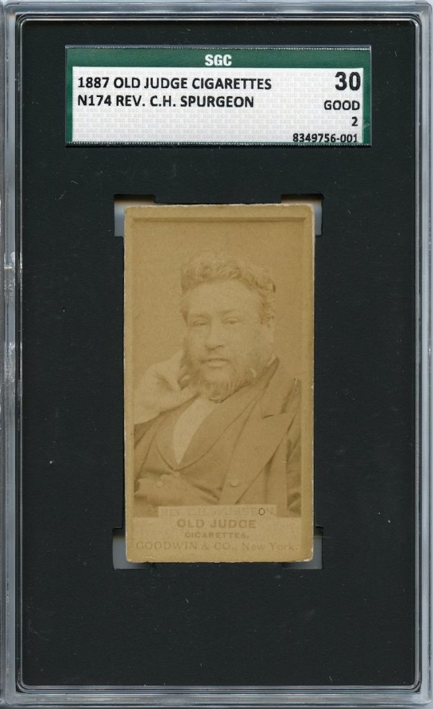 N174 Goodwin & Co. Old Judge English Preacher C.H. Spurgeon