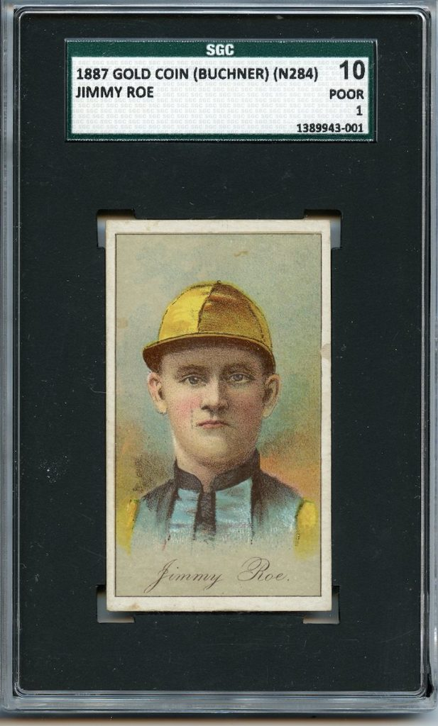 1887 Buchner Gold Coin jockey Jimmy Roe