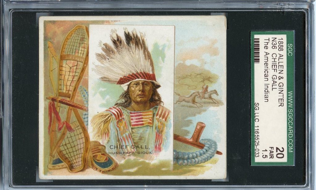 "1888 N36 Allen & Ginter ""American Indians"" Chief Gall"