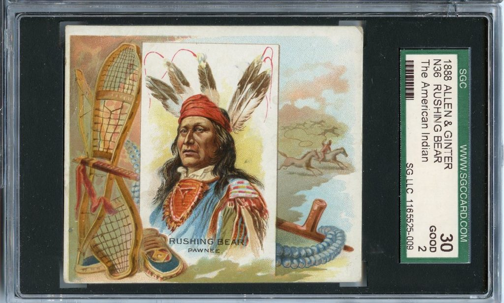 "1888 N36 Allen & Ginter ""American Indians"" Rushing Bear"