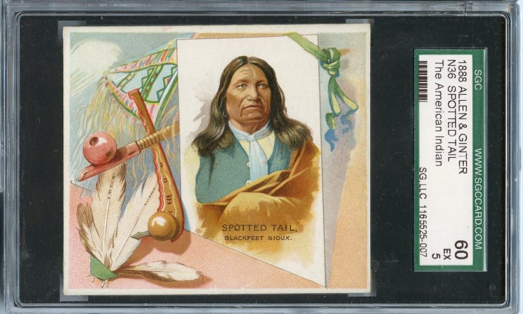 "1888 N36 Allen & Ginter ""American Indians"" Spotted Tail"