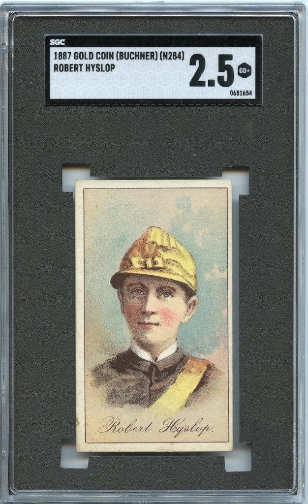1887 Buchner Gold Coin jockey Robert Hyslop