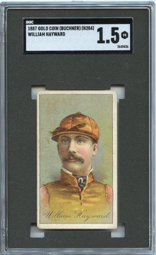 1887 Buchner Gold Coin jockey William Hayward