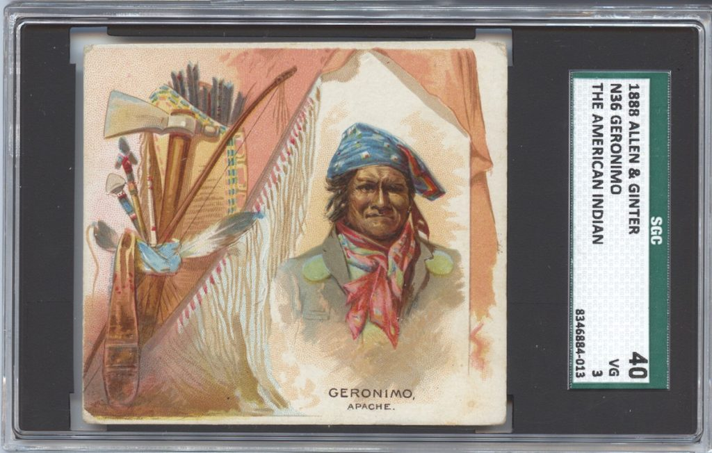 "1888 N36 Allen & Ginter ""American Indians"" Geronimo"