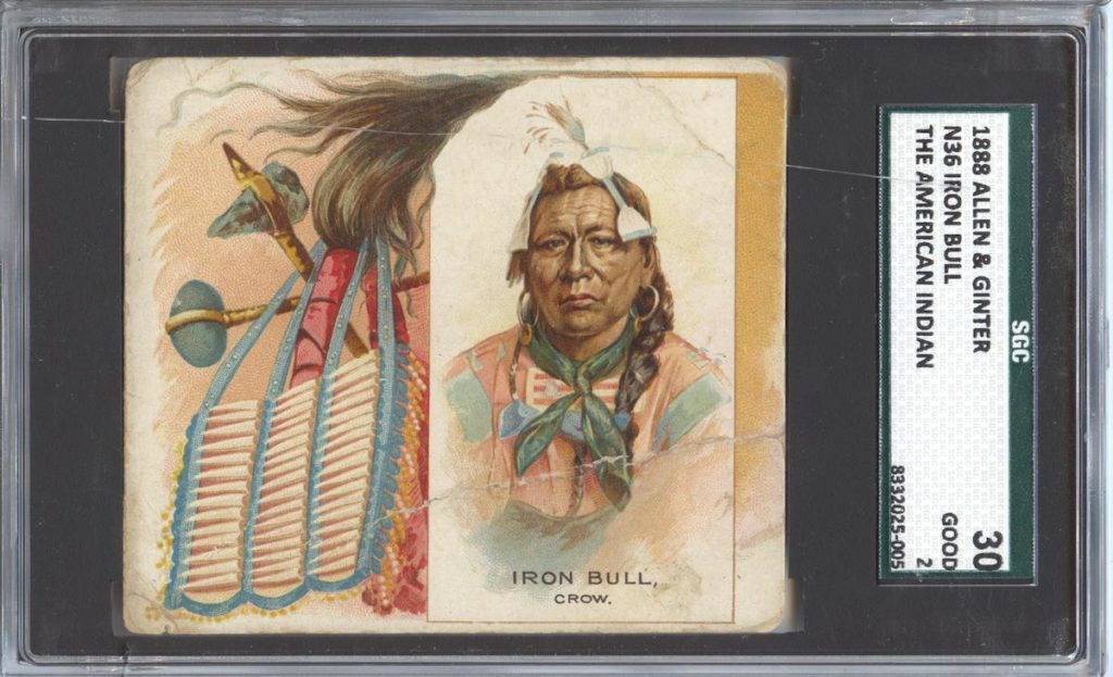 "1888 N36 Allen & Ginter ""American Indians"" Iron Bull"
