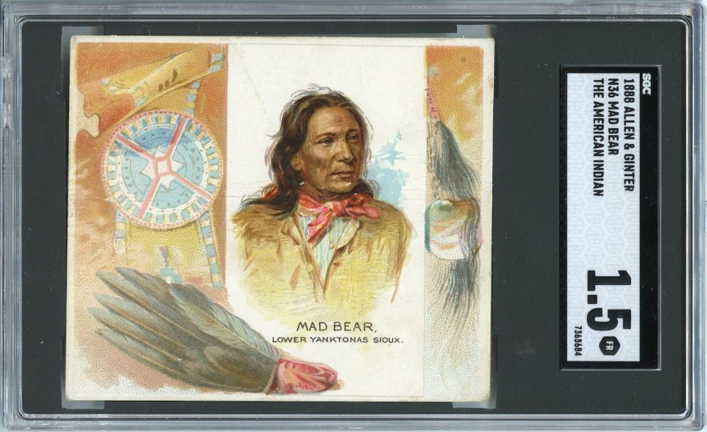 "1888 N36 Allen & Ginter ""American Indians"" Mad Bear"