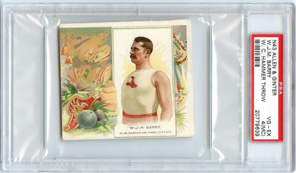 N43 Allen & Ginter The World's Champions 1888 W.J.M. Barry
