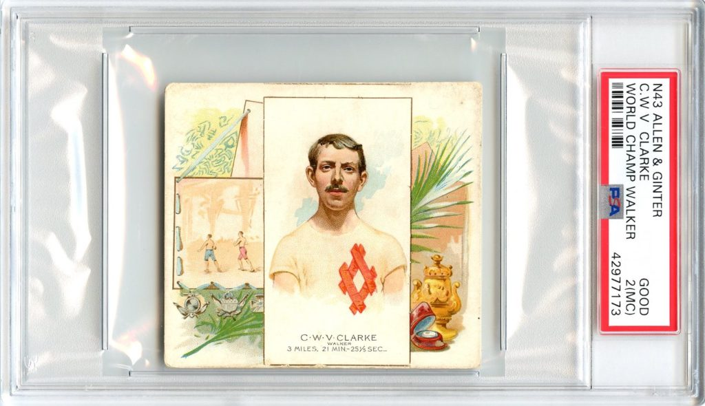 N43 Allen & Ginter The World's Champions 1888 C.W.V. Clarke