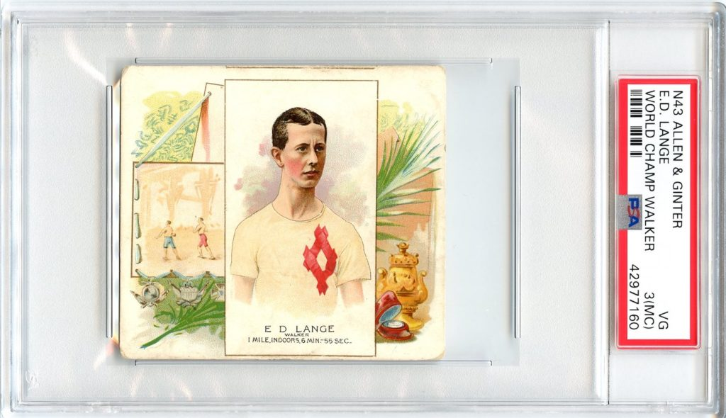 N43 Allen & Ginter The World's Champions 1888 E.D. Lange